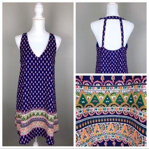 Sienna Sky Neon V-neck Sleeveless Halter Dress